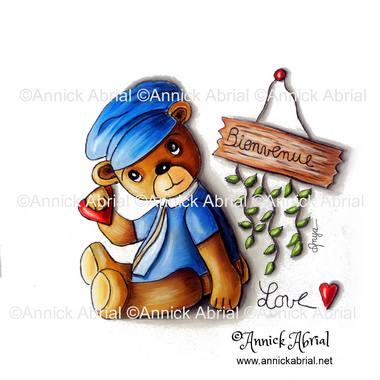 Dessins illustrations peintures les - Dessin d un ours ...