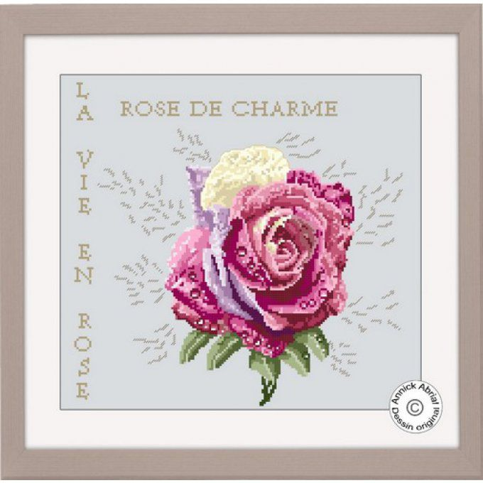 Point de croix, Rose de charme